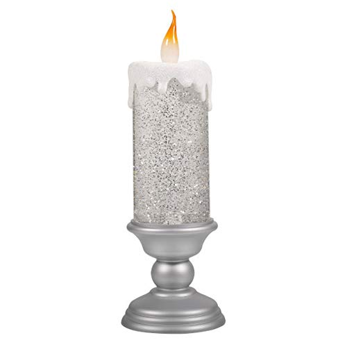 Grasslands Road 476167 Try Me Button Light Up Candlestick, Large, Silver