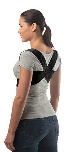 Corrector de Postura Ajustable de aHeal - Corrector Espalda De Hombros Para Hombres y Mujeres - Soporte de Espalda Alivia Dolor y Mejora Postura - Negro, Tamaño 4