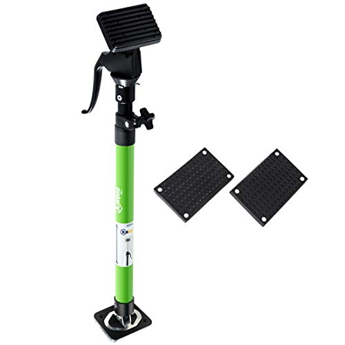 XINQIAO Support Pole, Steel Extendable Quick Support Rod Adjustable 3rd Hand Support System, Supports up to 154 lbs Construction Tools for Cabinet Jacks Cargo Bars Drywall Support(Short-1 Rods,Green)