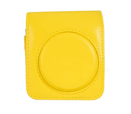 Fujifilm Instax Mini 70 Schutzhülle aus Kunstleder für Kamera Mini 70, Gelb