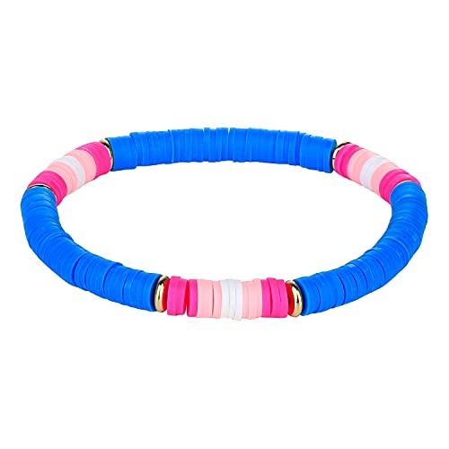 C·QUAN CHI Bracelet D'amitié Attrayants Fil Elastique pour Bracelet Perles Heishi 6mm Handmade Bracelets Femme Fantaisie