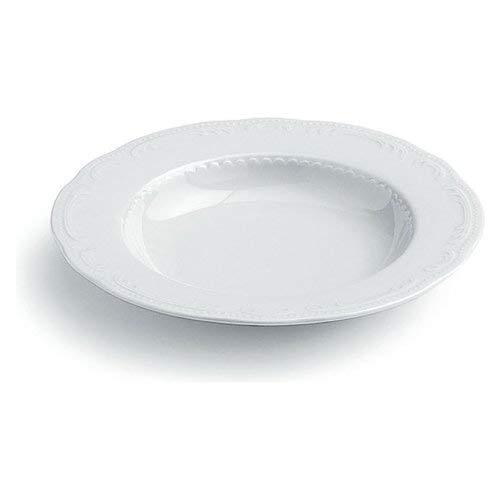 Tognana Vecchia Wienna Assiette Creuse, Porcelaine, Blanc