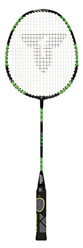 Talbot Torro Lern-Badmintonschläger ELI Teen, verkürzte Länge 63 cm, Lerngriff, Iso-Kopf, ideal für Schulsport und Training, schwarz-gelb-grün, 419614