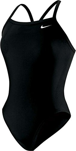 Nike Nylon Core Solid Lingerie Tank Swimsuit - Women's Size 20 Color Black