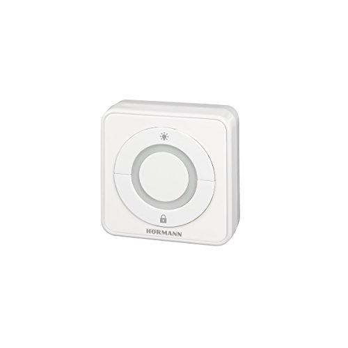 Hörmann 4511647 Drucktaster/Innentaster IT3b-1 ~ überzeugt durch exklusives Design und 100{eba814410e7596395630a3b1ed1830cb44931895fc534cba26a2b9f5417664af} ige Kompatibilität, große Taste mit beleuchtetem Ring, komfortable Öffnung des Tores