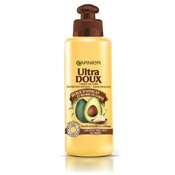 Garnier Ultra Doux À l'Huile d'Avocat et Beurre de Karité - Crème de soin sans rinçage Cheveux Très Secs ou Frisés 200 ml