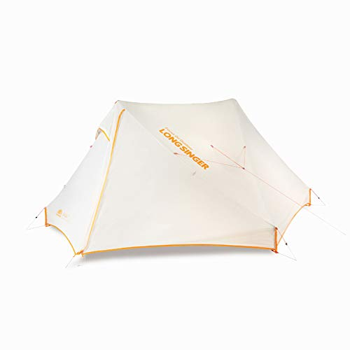 Ultralight Tents 2 Person Bivy Tents Lightweight Easy Setup Travel Camping Tent Coated Silicon Non-Self-Supporting Mountaineering Tent,White