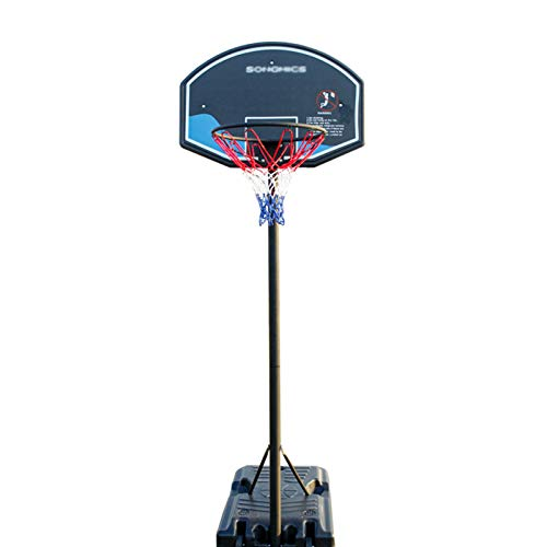 portátil Juego de Baloncesto, Canasta Baloncesto con Soporte y 2 Ruedas Soporte de Baloncesto Altura Ajustable para jóvenes y Adultos Familia Interior al Aire Libre,A