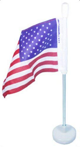 sold out USA Flag Detroit Mall with Magnetic Base Pole White Flexible and -