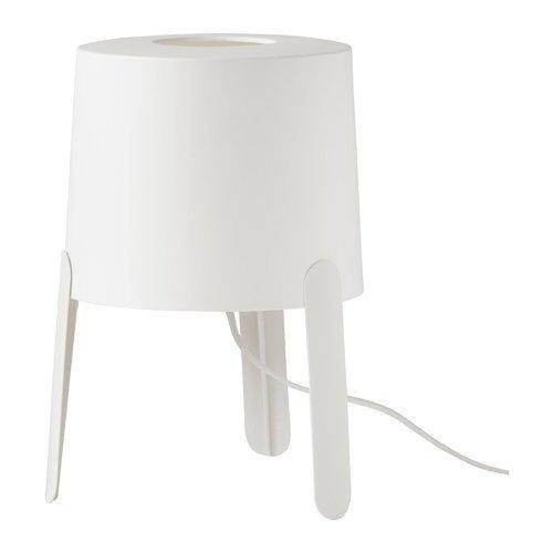 Ikea Tvärs - Lámpara de mesa (polipropileno, 18 cm de diámetro, 17...