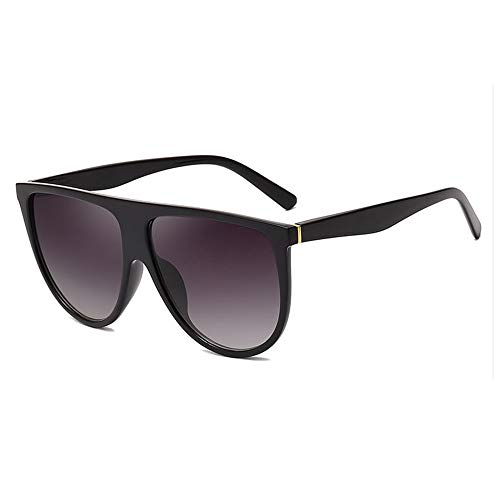 Jtoony Sport Sonnenbrillen Mode-große Kreis-Runde Sonnenbrille Männer Frauen Retro-Sonnenbrille Polarisierte Sonnenbrille (Color : Black, Size : One Size)
