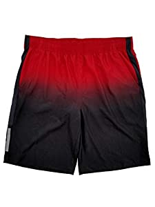 MSX by Michael Strahan Mens Red & Black Athletic Workout Shorts Large
