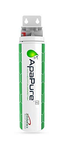 apapure 2Home Wasser Filter w/Carbon (entfernt Bakterien, Viren, Chlor, Chloramine) Lab getestet (keine Chemikalien, Power, Wartung) [NSF zertifiziert] installieren unter Waschbecken, von lifesource