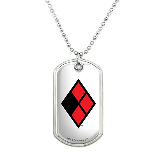 Harley Quinn Logo Dog Tag Pendant Necklace with Chain