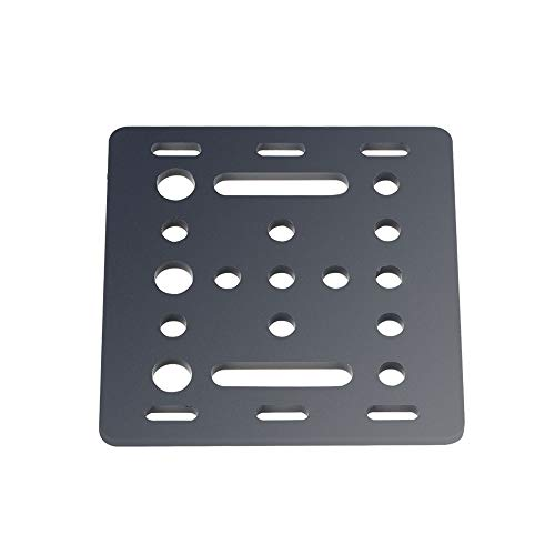 HUANRUOBAIHUO 3D Printer part for Openbuilds V-Slot Gantry Plate 20mm black sand blasting 65.5mmx65.5mmx3mm 3D Printer Parts