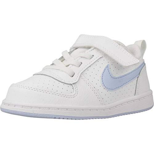 Nike Court Borough Low (TDV), Zapatillas de Estar por casa Unisex niños, Multicolor (White/Royal Tint 103), 17 EU