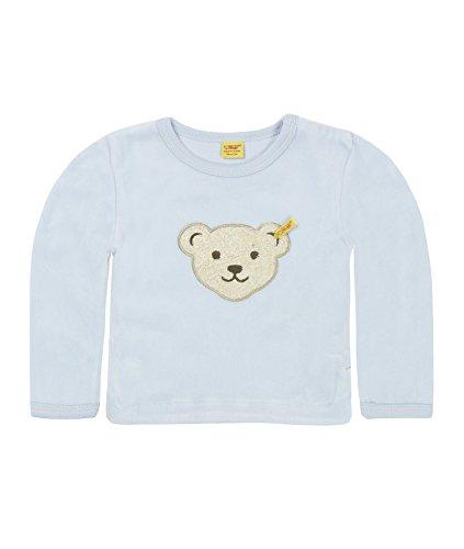 Steiff Classics Nicky 0002881 Sweat-Shirt, Bleu-Blau (Baby Blue), 9 Mois Mixte bébé