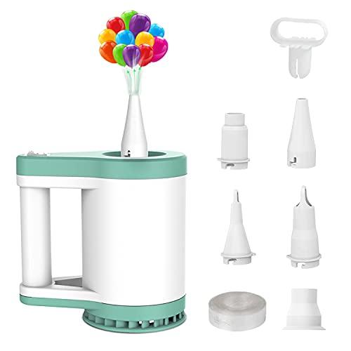 Elektrische Luftpumpe und Elektrische Ballonpumpe fü Aufbewahrungstaschen, Luftmatratzen, Schwimmbäder, Schlauchboote (grün)