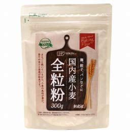 創健社の国内産小麦 全粒粉 300g×3個         JAN: 4901735023745