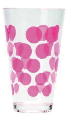 Zak ! Designs 1213-0650 San - Vaso (20 cl), diseño de Lunares, Color Rosa