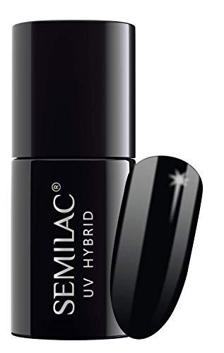 Semilac UV Nagellack | Schwarz Farb | 031 Black Diamond | 7 ml | UV LED Farblack für Farbintensive Fingernägel | Ergiebig und Langlebig Nail Polish | Ideal für zu Hause und Professionelle Maniküre