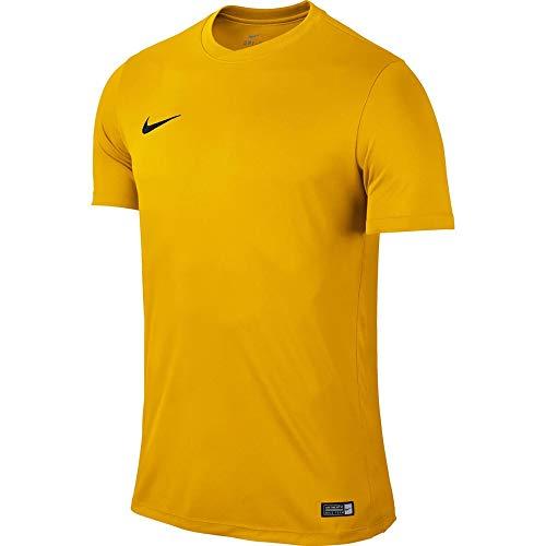 Nike Park Vi Jersey Youth Ss, Maglietta a Maniche Corte Bambino, Arancione (University Gold/Black), S