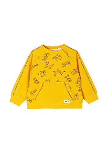 s.Oliver Junior Baby-Jungen 405.10.102.14.140.2057990 Sweatshirt, Yellow AOP, 86