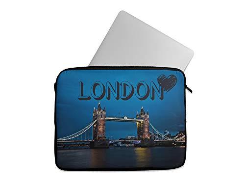 Capital Cities - Custodia protettiva per tablet e computer portatile, unisex, compatibile con MacBook Air Pro, Lenovo Chromebook Dell, Asus Acer Hp (12-13 pollici, Londra)