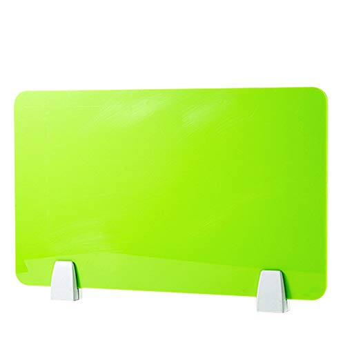 HEFUTE Tischtrennwand Trennwand Schreibtisch Trennwand mit 2 Klemmhalterungen Privatsphäre Sichtschutz Nieschutz für Anrufzentralen Büros Bibliotheken Klassenzimmer aus mattiertem Acryl 30X50 Grün