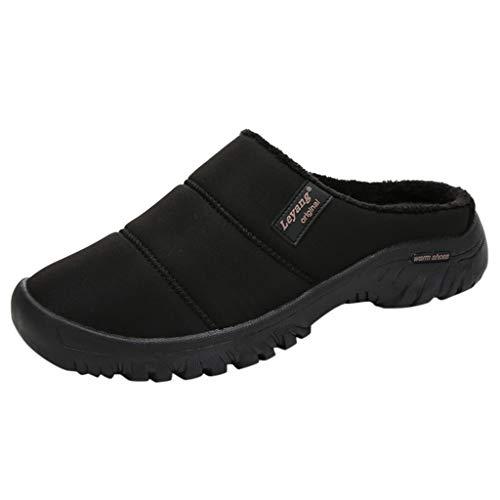 Eldori カップルの大きなサイズのカジュアルな家プラスベルベット暖かい靴快適な綿のスリッパ インドア 足首ま 室内履き スリッパ 滑り止め カジュアルシューズ 冬用 防寒 居心地の良いスリッパ 男女兼用