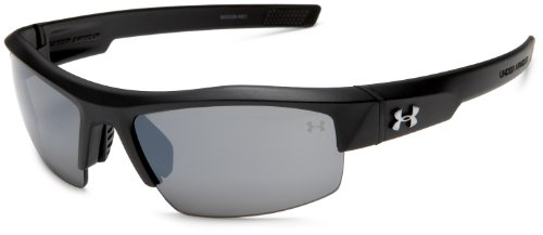 Under Armour Igniter Sunglasses Sport, Satin Black/Gray Multiflection Lens, One Size