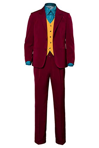 ClSSTEV Adult Performance Uniform Joker Costume Suit Outfit Halloween Cosplay Costume