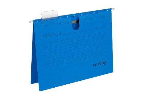 Jalema 2655814600 Atlanta Serie E Hängehefter A4 kaufmännische Heftung, 25er Packung, blau