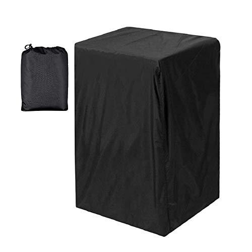 Nrkin Funda protectora para ahumador eléctrico (impermeable, resistente al viento, resistente a los rayos UV, 46 x 44 x 79 cm), color negro