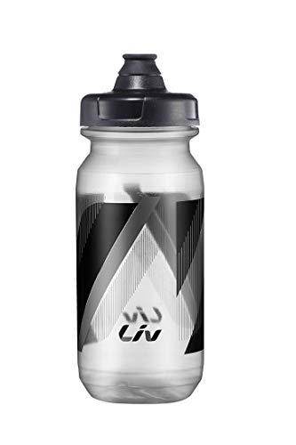 LIV Trinkflasche transparent schwarz 600 ccm Fahrrad Sport Radfahren Pour Fast