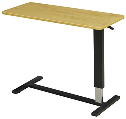 昇降テーブル テーブル高さ 65〜95�p キャスター付き (幅 80cm, ライトブラウン)
