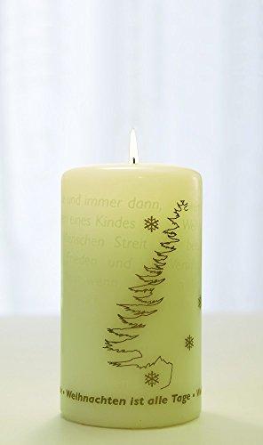 WORTlicht Kerze Wann ist Weihnachten?