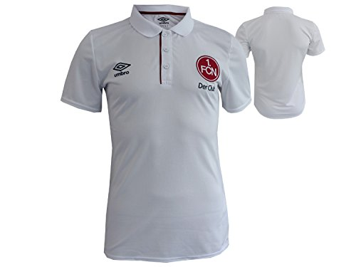 UMBRO Erwachsene FC Nurnberg Training Poly Polo Shirt (U) T, Brilliant White/Biking Red, S