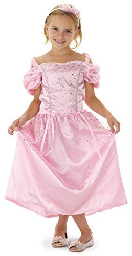 Folat 21822 - 2 teiliges Märchen Prinzessin Kleid rosa mit Haarreif Gr.S