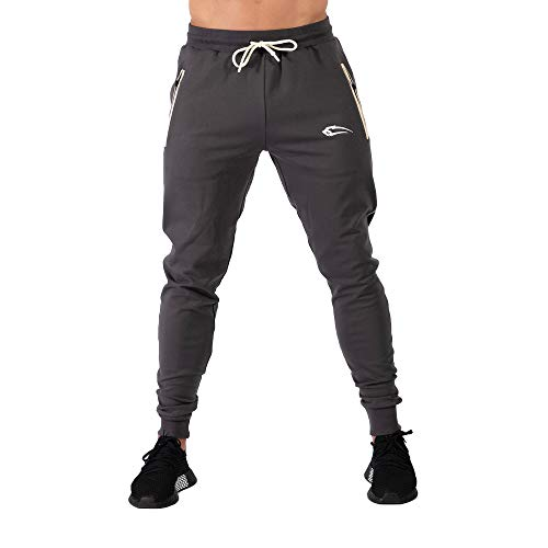 SMILODOX Herren Jogginghose Nightfall   Trainingshose   Sport & Gym   Fitness   Freizeit   Sporthose   Jogger   Hose lang   Trends, Farbe:Anthrazit, Größe:L
