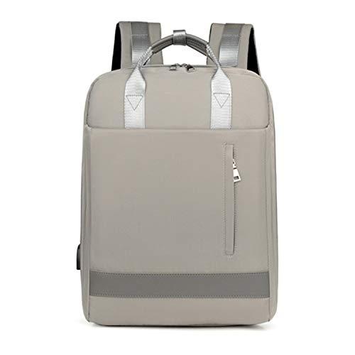 QQBL Business Travel Backpack,Laptop Backpack, Backpack Student School Bag, Men and Women (Color : Gray)