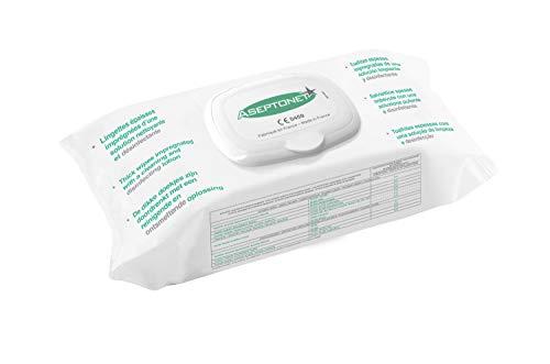 Aseptonet - Paquete de 100 toallitas gruesas limpiadoras desinfectantes