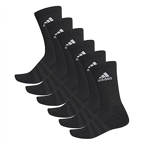 adidas 6 Paar Cushion Crew Socken, Black, XL