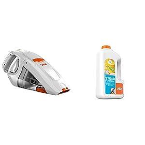 Vax H85-GA-B10 Gator Cordless Handheld Vacuum Cleaner, 0.3 L – White/Orange & Steam Detergent Citrus Burst 1L