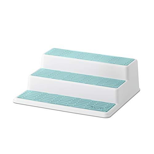 Copco Non-Skid 3-Tier Spice Pantry Kitchen Cabinet Organizer, 10-Inch, Aqua