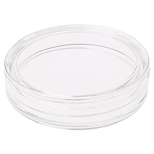 Caja de almacenamiento de cápsula de monedas de acrílico redondo transparente de 38.6 mm para plata 2 oz caja organizador cajas de baratijas bolsa de viaje de joyería mini caja de joyería caja de relo