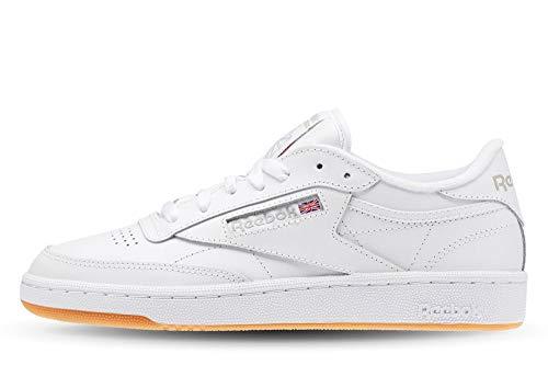 Reebok Club C 85, Scarpe da Fitness, Bianco (White/Light Grey/Gum 000), 35.5 EU