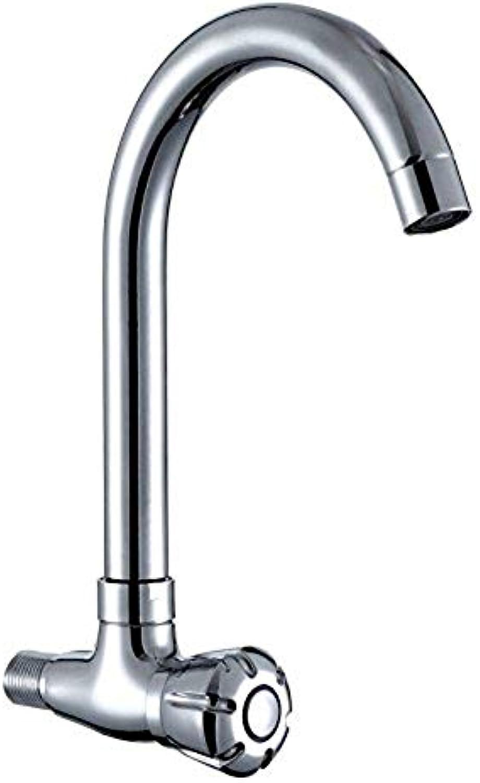 Wasserhahn Küche Waschbecken Badezimmer Wasserhahn Messing in die Wand Typ Single Cold Sink Tap für Badezimmer Küchenarmatur
