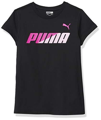 PUMA Girls' T-Shirt, Black, M