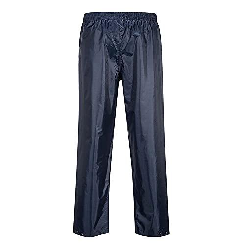 Portwest Pantalon de Pluie Unisex Classic, Couleur: Marine, Taille: M, S441NARM